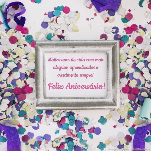 Muitos anos de Vida - Mensagens de Aniversário