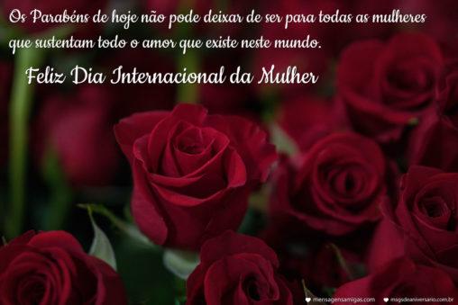 Dia Internacional da Mulher - Mensagens de Aniversário